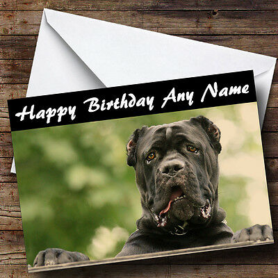 Cane Corso Dog Personalised Birthday Greetings Card