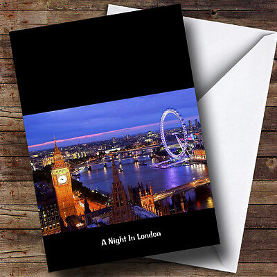 England Personalised Birthday Greetings Card A Night In London