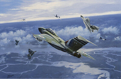 Gloster Javelin Aviation Painting Art Print - 60 Squadron RAF Tengah