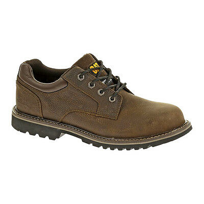 CAT Men's Electric Toe Leather Lace Up Oxford Work Shoes Brown P90438