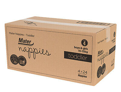 Carton 96 Mater Nappies Toddler Size 4: super absorbent, leak protection, flexib