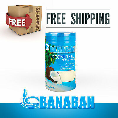 BANABAN Organic grown Virgin Coconut Oil 1 Litre - FREE DELIVERY