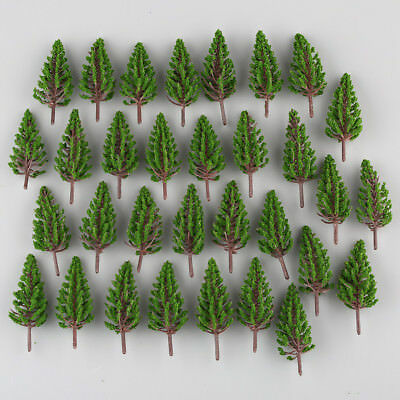 50pcs New Pine Trees Model Train Park Trees for HO or OO Scale Scenery 78mm