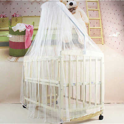 Hot Summer Baby bed mosquito net Baby Toddler baby bed Crib Canopy Netting White