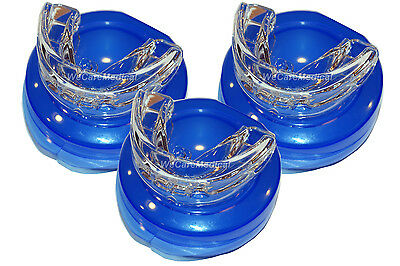 3x NEW STOP SNORING MOUTHPIECE GUARD ANTI SNORE  BRUXISM APNEA TEETH GRINDING