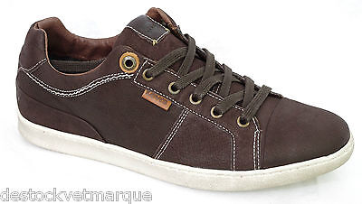 super popular 76b1d 918f8 LEVI S Baskets Tulare Toe Cap Low homme taille 41 cuir marron