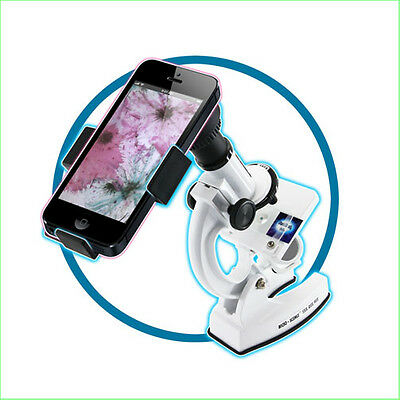 Kids Microscope Set 41 Pce + Smartphone Viewer Science Kit STEM Toys FREE POST