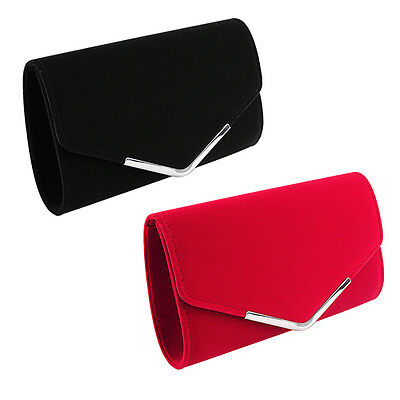 Lady Envelope Clutch Shoulder Bag Women Evening Party Handbag Purse Red    Black e7c76d61fd74