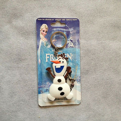 "Frozen Snowman Olaf 2.8""/7cm Double Face Bubber Keychain Keyring"