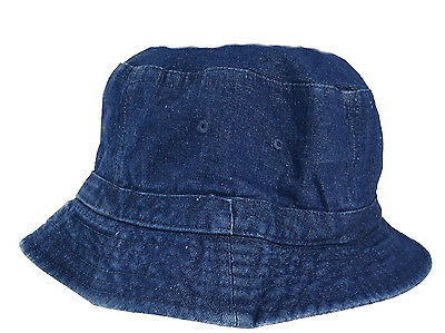 ceca9ca9661 Cotton Denim Bucket Hat in Large Sizes - Size 2X Bucket Hats