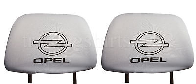 Set 2x New White Head Rest Cover fit Opel Two Headrest covers pad