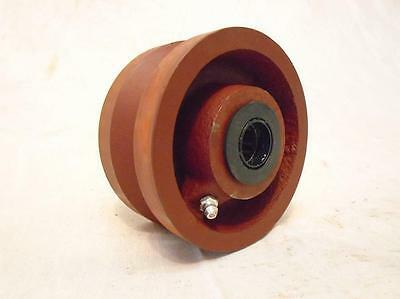"""4"""" x 2"""" V-Groove 7/8"""" Ductile Steel Caster Wheel 1500 lbs"""