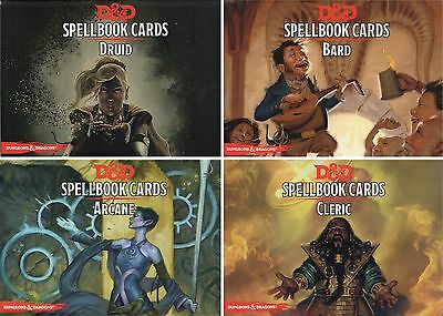 D&D-Spellbook-Deck-DRUID-BARD-ARCANE-CLERIC-Card Game-Roleplaying-neu-new