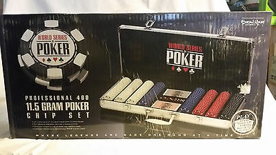 World Series of Poker 2064A-WSOP-2 Professional 400 Chip Set Metal Case