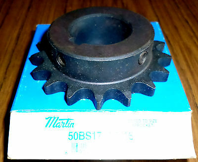 """NEW IN BOXES.. LOT of (4) Martin Single Row Sprockets 50BS17 1-7/16"""" Bore"""