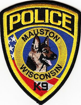 WISCONSIN -  MAUSTON   POLICE  DEPARTMENT   K - 9    Patch