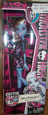 MONSTER HIGH **ABBEY BOMINABLE**NEW**COFFIN BEAN!
