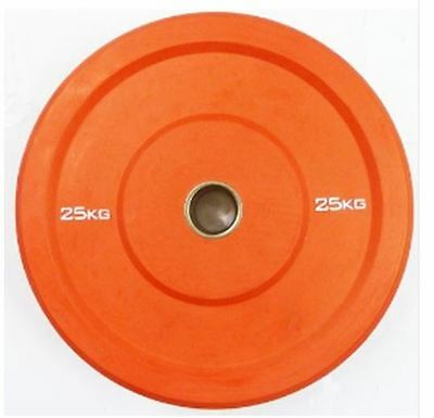 """Ironman Olympic 2"""" Solid Rubber Bumper Plate 25KG - Weightlifting Discs"""