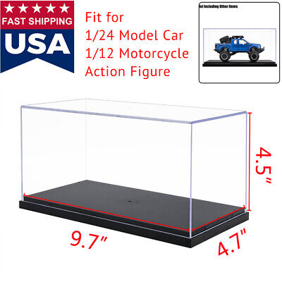 US Clear Acrylic Plastic Display Box Case Protection Toys Dustproof Big Size 10""