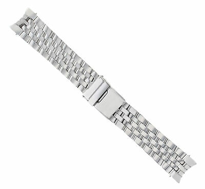 22Mm Watch Band Stainless Steel Bracelet For Breitling Crosswind 5 Link Shiny Ce