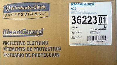 New KLEENGUARD A20 BREATHABLE PARTICLE PROTECTION PANTS LRG, KC 36223 Case of 50