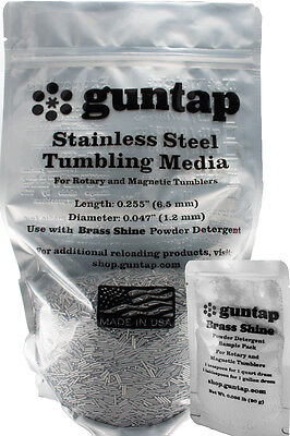 """6 Pounds Stainless Steel Tumbling Media Pins 6lb .047"""" x .255"""" Made in USA"""