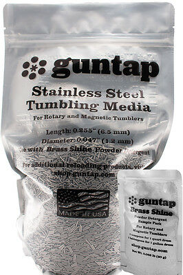 "9 Pounds Stainless Steel Tumbling Media Pins 9lb .047"" x .255"" Made in USA"