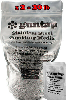 "20 Pounds Stainless Steel Tumbling Media Pins 20lb .047"" x .255"" 1.19mm x 6.48mm"