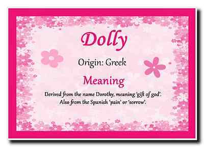 Dolly Personalised Name Meaning Jumbo Magnet