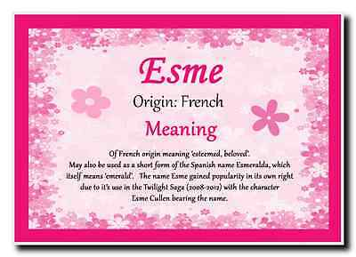 Esme Personalised Name Meaning Jumbo Magnet