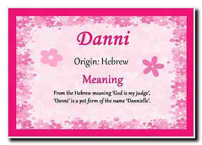 Danni Personalised Name Meaning Jumbo Magnet