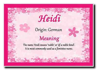 Heidi Personalised Name Meaning Jumbo Magnet