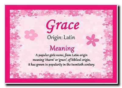 Grace Personalised Name Meaning Jumbo Magnet