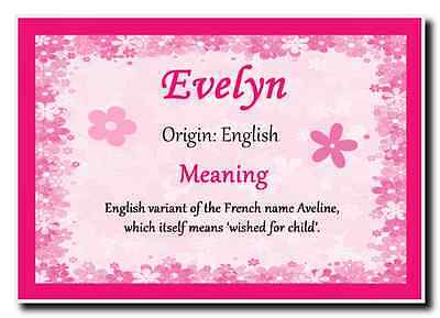 Evelyn Personalised Name Meaning Jumbo Magnet