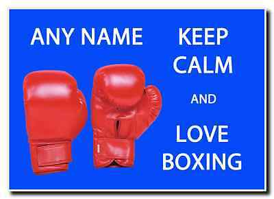Keep Calm And Love Boxing Personalised Jumbo Magnet
