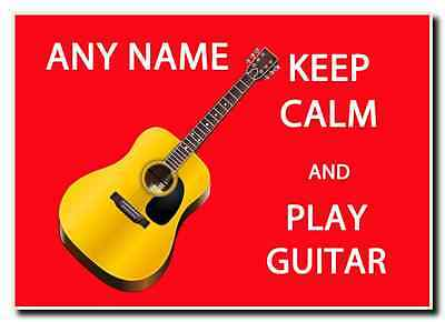 Keep Calm And Play Guitar Personalised Jumbo Magnet