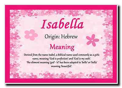Isabella Personalised Name Meaning Jumbo Magnet