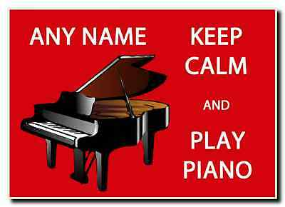 Keep Calm And Love Play Piano Personalised Jumbo Magnet