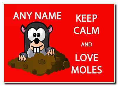 Keep Calm And Love Moles Personalised Jumbo Magnet