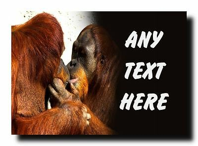 Kissing Orangutans Personalised Jumbo Magnet