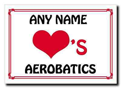 Love Heart Aerobatics Personalised Jumbo Magnet