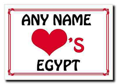 Love Heart Egypt Personalised Jumbo Magnet