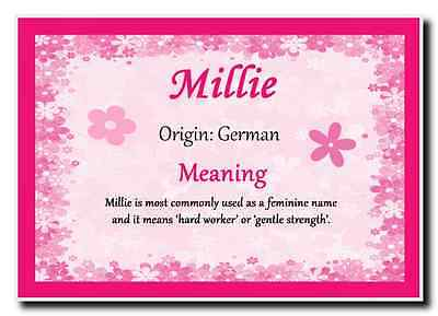 Millie Personalised Name Meaning Jumbo Magnet