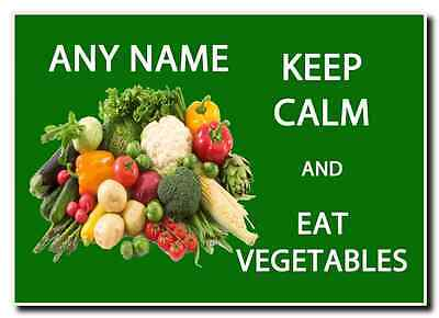 Keep Calm And Eat Vegetables Personalised Jumbo Magnet