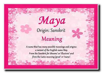 Maya Personalised Name Meaning Jumbo Magnet