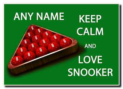 Keep Calm And Love Snooker Personalised Jumbo Magnet