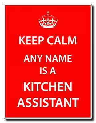 Kitchen Assistant Personalised Keep Calm Jumbo Magnet