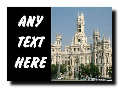 Madrid Spain Personalised Jumbo Magnet