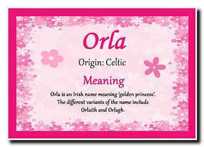 Orla Personalised Name Meaning Jumbo Magnet