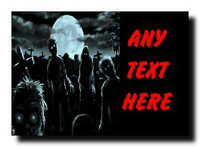 Scary Zombies Personalised Jumbo Magnet